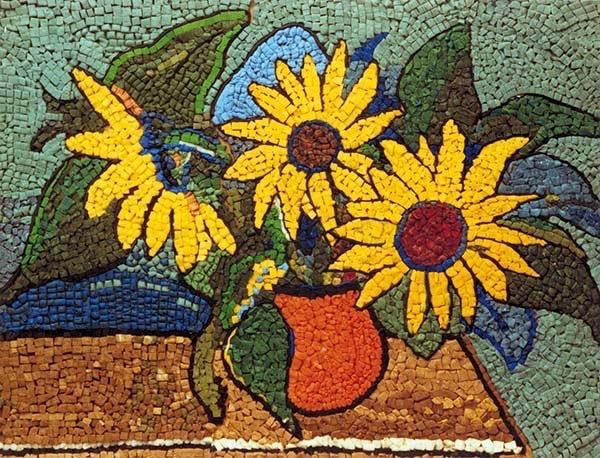 "Sophie ""Fifi"" Rehbinder-Kruse, Sunflowers, 1941, FIMO, photo: Staedtler"